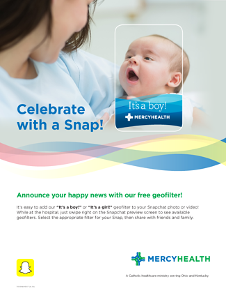 Mercy Health SnapChat Geofilter Poster promotion