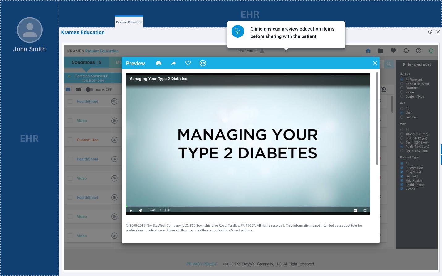 Epic video patient education
