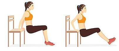 Chair Dips - Home Workout Blog