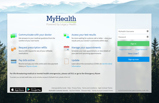 MyHealth_loginpage