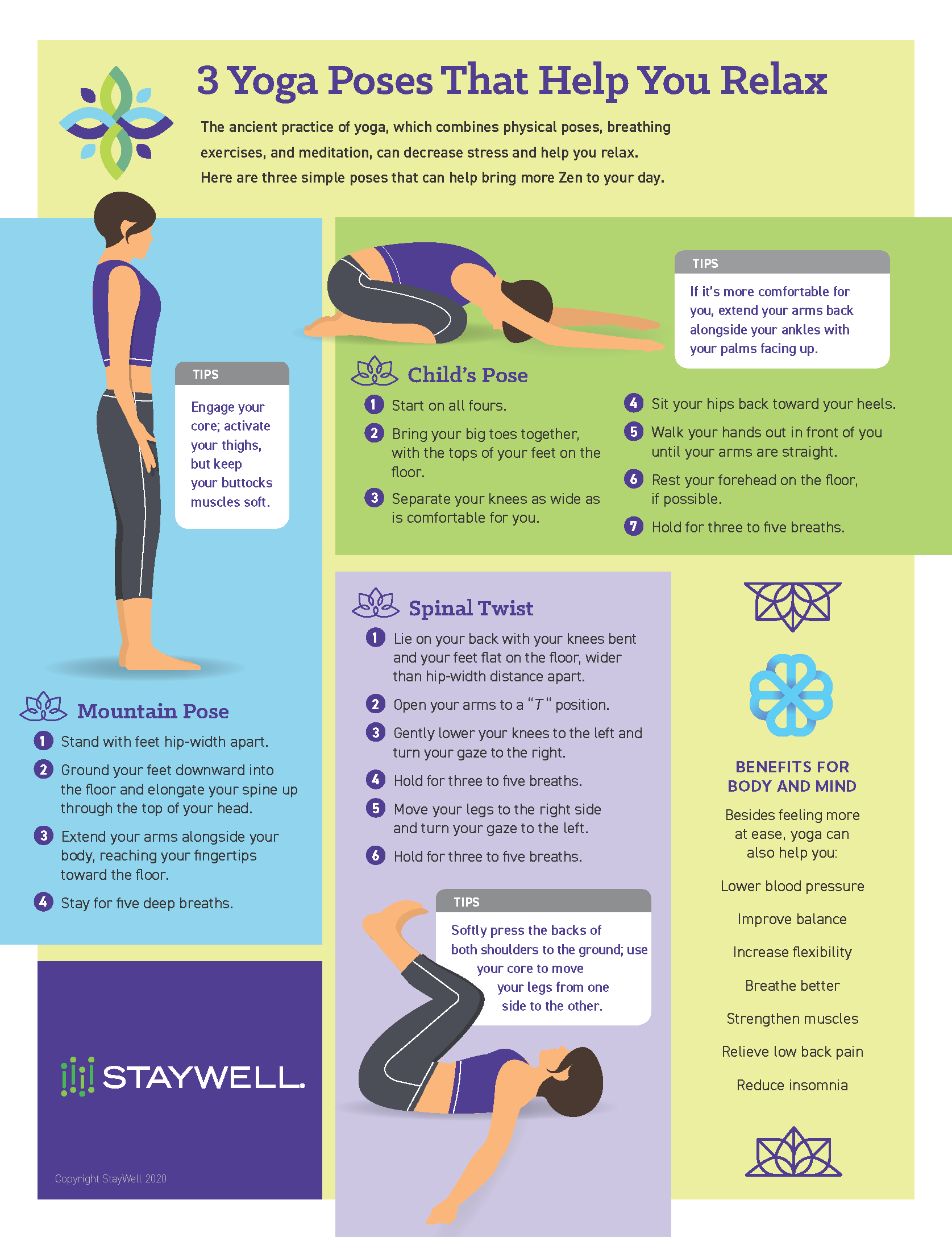 StayWell Yoga Poses That Help You Relax