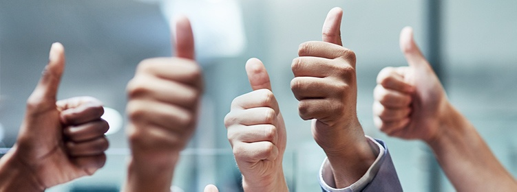All thumbs up image