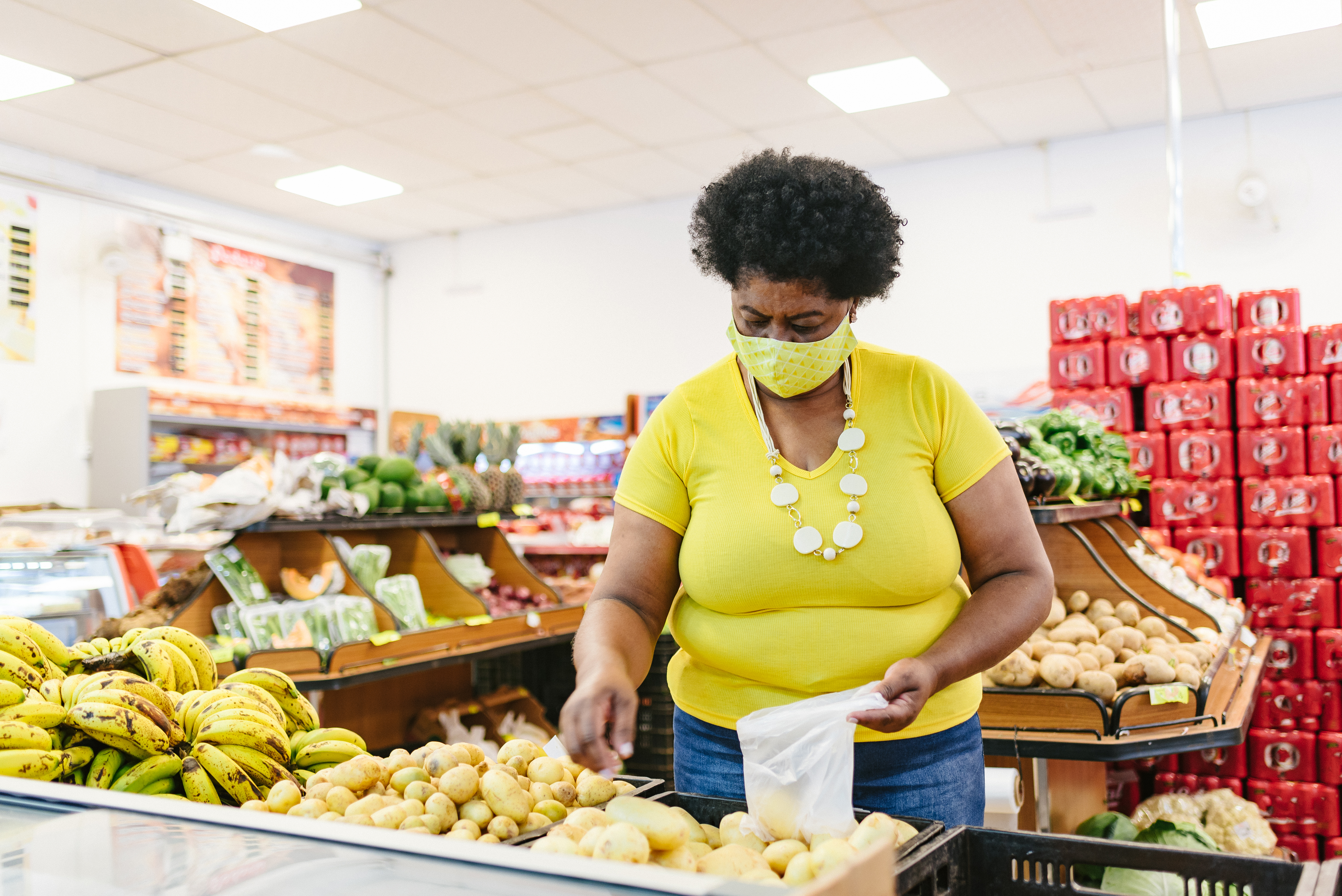 Woman at grocery store